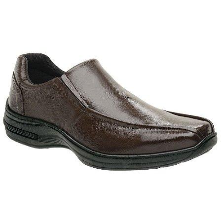 Sapato Masculino Casual Comfort Couro Marrom Torani SLZ