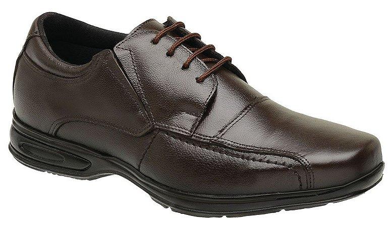 Sapato Masculino com Cadarço Couro Marrom Torani SLZ