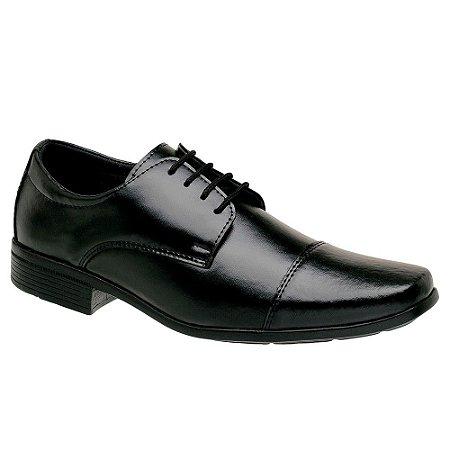 Sapato Social Masculino Preto Cadarço Torani SLZ