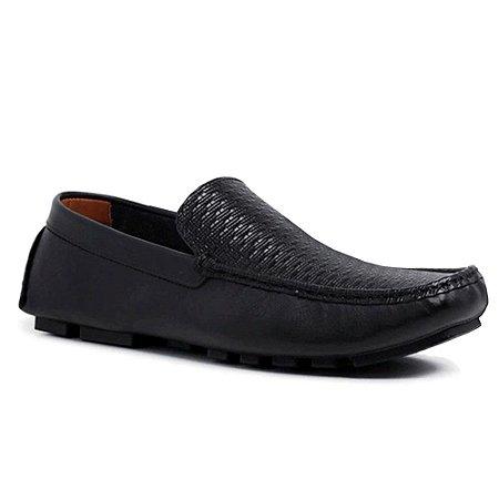 Sapato Mocassim Drive Masculino em Couro Legítimo Confortável