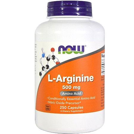 Arginina 500mg 250 capsulas NOW Foods