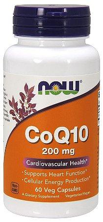 CoQ10 200mg 60 Veg Capsulas NOW Foods