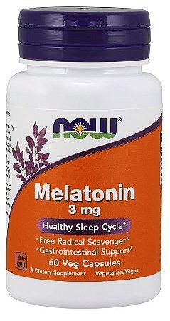Melatonina 3mg 60 veg capsules NOW Foods