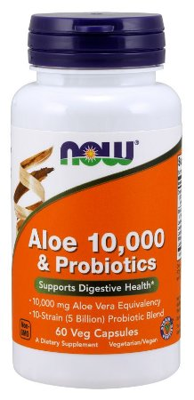 Aloe Vera & Probiotics 10,000mg  60 softgels NOW Foods