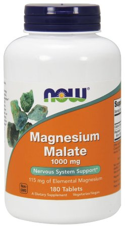 Magnesio Magnesium Malate 1000mg 180 tabs NOW Foods