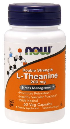 L Theanine Double Strength 200 mg 60 Veg Capsules NOW Foods