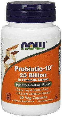 Probiotic 10 25 Billion 50 Veg Capsules NOW Foods