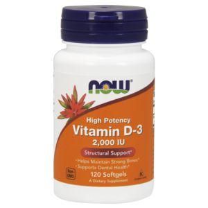 Vitamina D3 2000 IU 120 Softgels NOW Foods