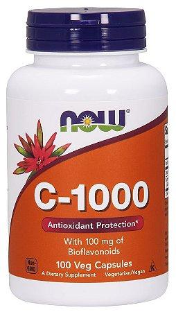 Vitamina C 1000  100 Veg Caps com 100mg Bioflavonoids NOW Foods