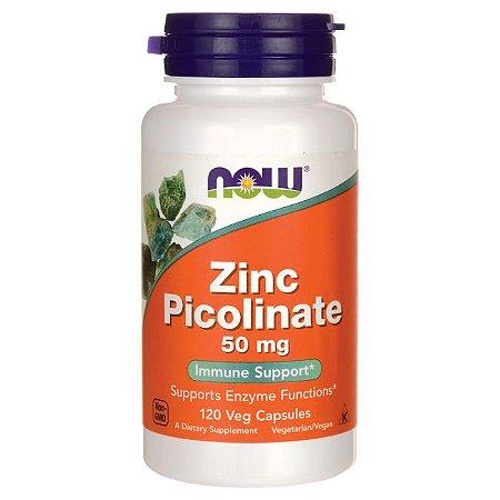 Zinco Picolinate  50mg 120 Veg Caps NOW Foods