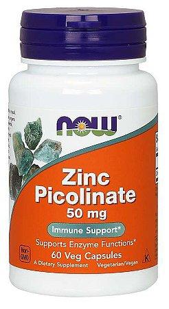 Zinco Picolinate 50mg 60 Veg Caps NOW Foods