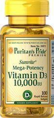 Vitamina D3 10.000 IU 100 softgels PURITANS Pride