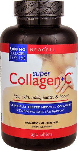 Super Colageno + Vitamina C 6000 mg 250 Tablets NEOCELL