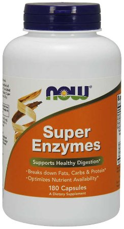 Super Enzymes super enzimas 180 capsules NOW Foods