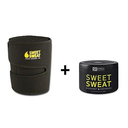 Cinta Neoprene para Perna Amarela + Sweet Sweat 184g