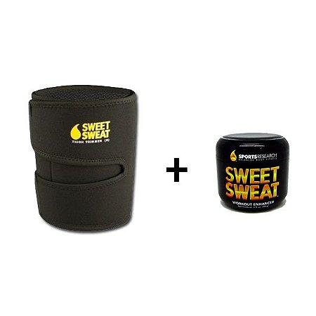 Cinta Neoprene para Perna Amarela + Sweet Sweat 99g