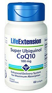 Super Ubiquinol CoQ10 100mg 60 caps LIFE Extension
