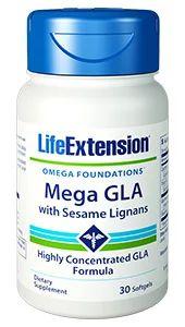 Mega GLA com Sesame Lignans 30 softgels LIFE Extension