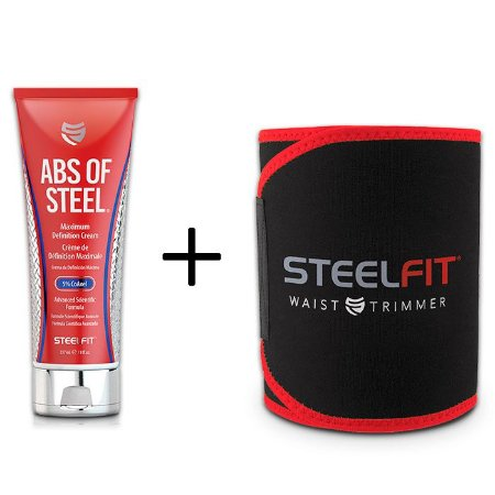 Abs Of Steel + Cinta De Neoprene Steel Fit FRETE GRATIS