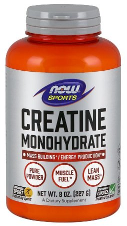 Creatina Monohydrate Powder Pure  227g NOW Foods FRETE GRATIS