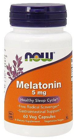 Melatonina 5mg 60 veg caps NOW Foods