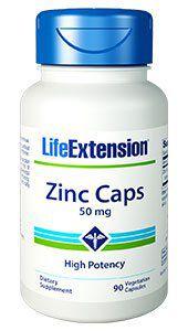 Zinco Caps 50 mg 90 vegetarian capsules LIFE Extension