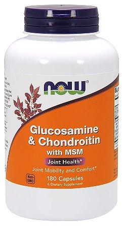 Glucosamine e Chondroitin com MSM 180 Capsules NOW Foods
