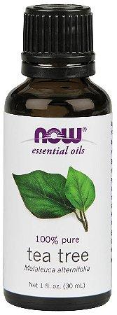 Óleo essencial de Tea Tree melaleuca 1oz 30ml NOW Foods