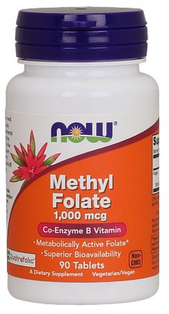 Methyl Folate 1000 mcg 90 tablets NOW Foods