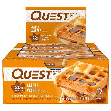 Quest Bar Maple Waffle - Caixa com 12 Unidades FRETE GRATIS