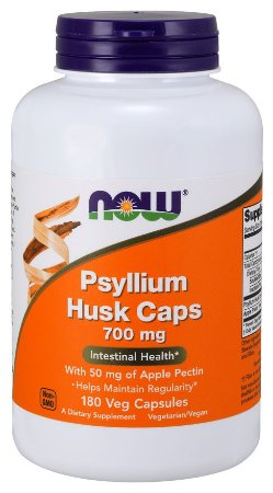 Psyllium Husk 700mg 180 Veg Caps NOW Foods