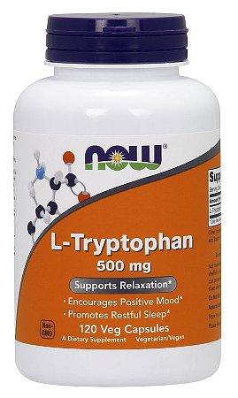 L Tryptophan triptofano 500 mg 120 Veg Capsules NOW Foods