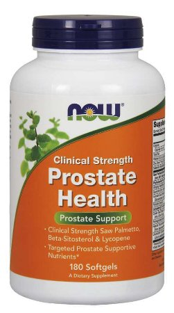 Prostate Health Clinical Strength 180 Softgels NOW Foods