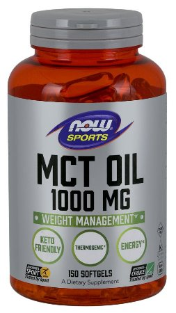 MCT Oil 1000 mg 150 Softgels NOW Foods FRETE GRATIS