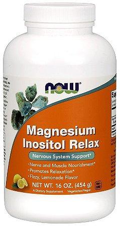Magnesio Magnesium Inositol Relax Powder 454g NOW Foods FRETE GRATIS