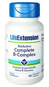Complexo B - BioActive Complete B Complex 60 veg capsules Life Extension