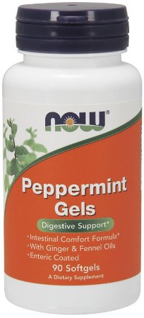 Peppermint Gels hortelã 90 Softgels NOW Foods FRETE GRATIS