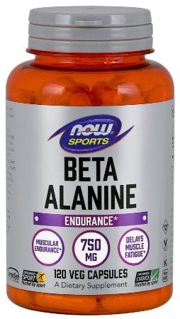 Beta-Alanine  750 mg 120 Capsules NOW Foods