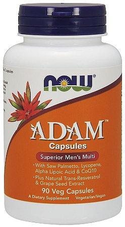 ADAM Men s Multiple Vitamin Veg 90 Capsules NOW Foods vencimento 05/20