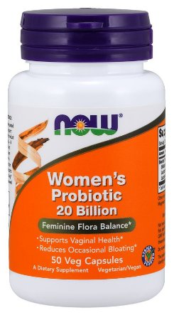 Women s Probiotic probiotico para mulheres 20 Billion 50 Veg Capsules NOW Foods