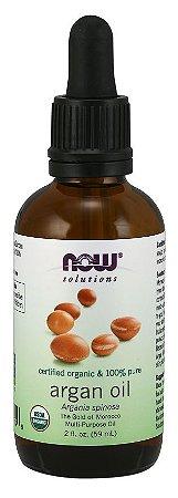 Óleo de Argan Organico 100 % Puro 59 ml NOW Foods FRETE GRATIS