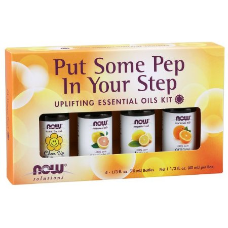 Kit de Óleos Essencias Put Some Pep in Your Step 40 ml NOW Foods FRETE GRATIS