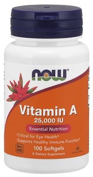 Vitamina A 25000 IU 100 softgel NOW Foods