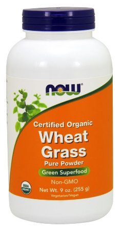 Wheat Grass Powder Certified Organic 255g NOW Foods