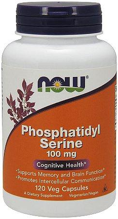 Phosphatidyl Serine 100mg 120 veg Capsules NOW Foods