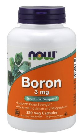 Boron 3 mg 250 Veg Capsules NOW Foods