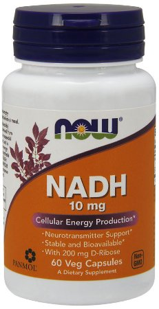 NADH 10 mg 60 Veg Capsules NOW Foods