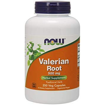 Valerian Root 500 mg 250 Capsules NOW Foods