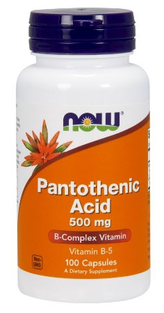 Pantothenic Acid b5 500 mg 100 Capsules NOW Foods