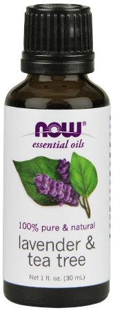 Óleo essencial blend Lavender e Tea Tree 1oz 30ml NOW Foods